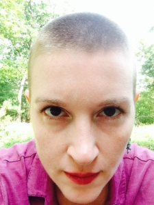 Shaved head, dose #2